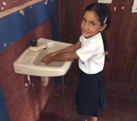 Providing clean water and restrooms to schools overseas